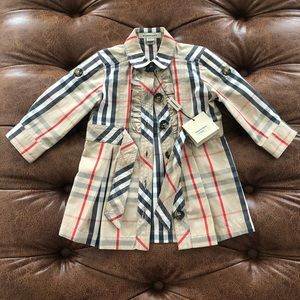 Kids Burberry Check Dress 6month